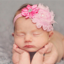 baby Flower Head bands newborn Crystal Tiara Children's hair band Crown Hair Accessory Photography Props  w--110 цена