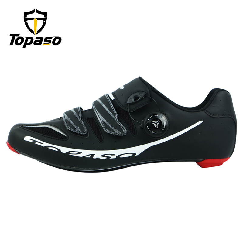 Topaso Brand Carbon Fiber Road Bike Cycling Shoes Sneakers Men Zapatillas Ciclismo Carretera Deportivas Hombre Sapatilha Estrada 2017 running shoes men sneakers for men sport zapatillas deportivas hombre free run sneaker mens runners china wear resistant