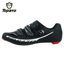 Topaso Brand Carbon Fiber Road Bike Cycling Shoes Sneakers Men Zapatillas Ciclismo Carretera Deportivas Hombre Sapatilha Estrada