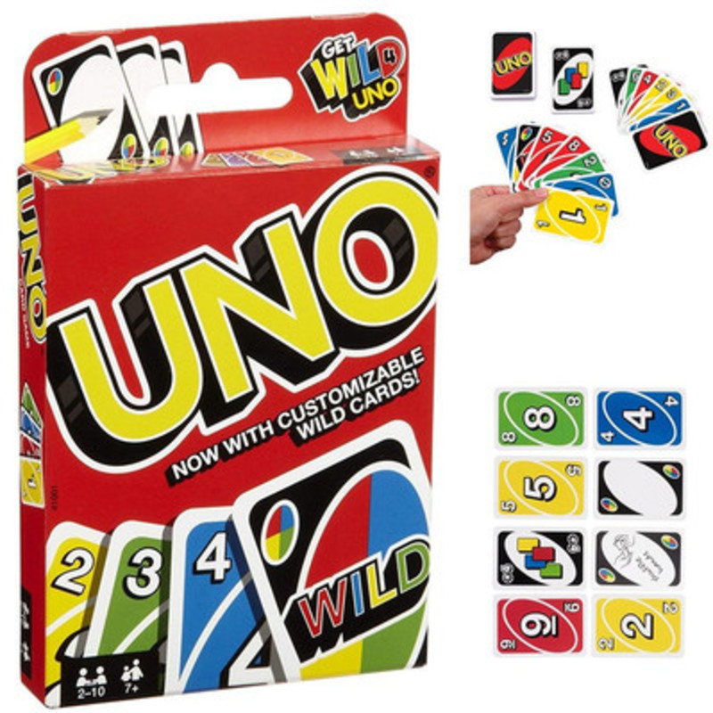 Uno Juego De Mesa Wild Card Uno Board Game Jogo De Cartas Fun Poker Playing Puzzle Intelligence Games 108PCS Playing Cards