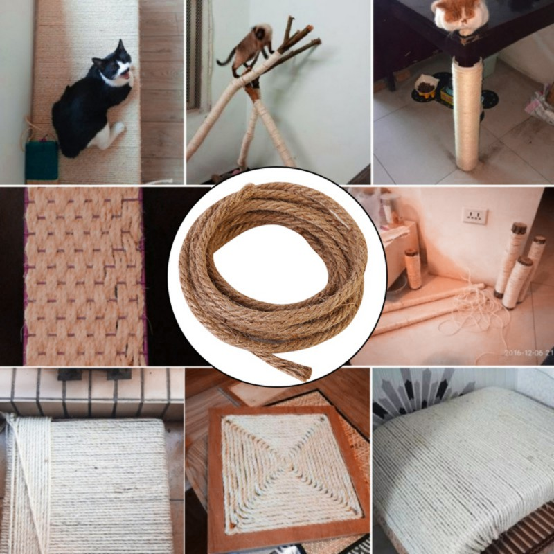 Cat Scratching Post Toys Replacements Sisal Rope Cat Toys Diy Supplies All Natural Durable