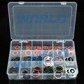 18 tamanhos Junta Compressor de Ar Condicionado Conjunto de Vedação para Auto A/C Ar Condicionado Parte O anel de Vedação Da junta Kit máquina de lavar