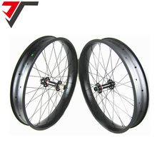 TRIPS 26 fatbike carbon wheelset 80mm carbon fat bike wheels 26er fat tire wheels hookless tubeless compatible with novatec hub(China)