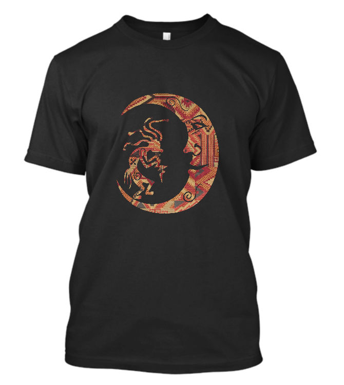 New Kokopelli Sun T-SHIRT Indian Native American Dance Southwest Flute Shirt Round Neck Clothes