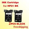 2x black INK cartridge C9351A for hp21 for hp 21 21xl Deskjet 3930/ 3940/1250 /4315 /PSC1410