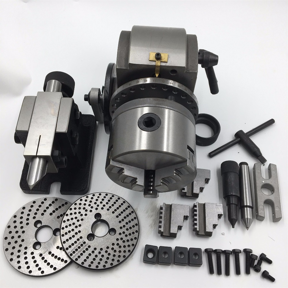 High Precision BS 1 Dividing Head 3Jaw Lathe Chuck 200mm with Tailstock and Dividing Plates Lathe