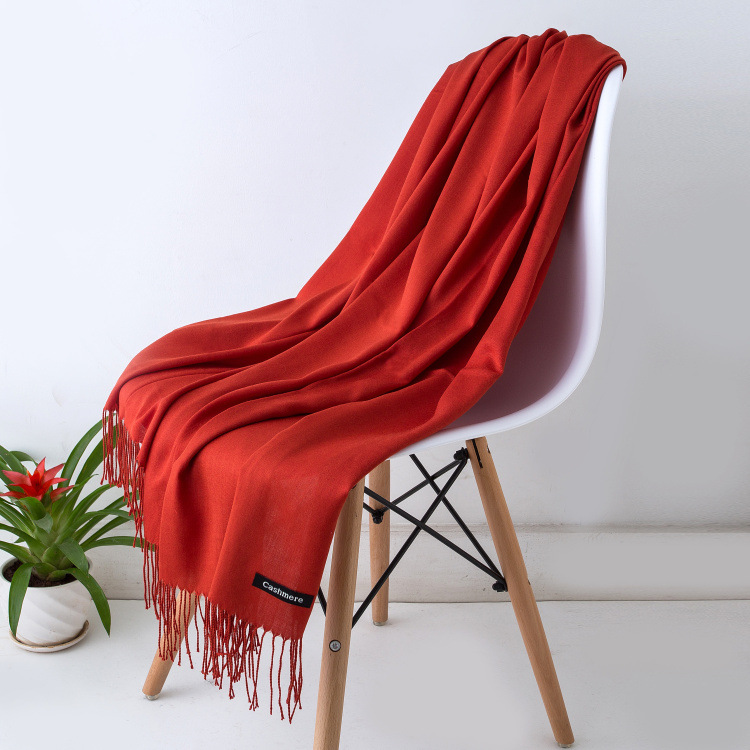 HTB1fo13XovrK1RjSspcq6zzSXXak - Women solid color cashmere scarves with tassel lady winter autumn long scarf high quality female shawl hot sale men scarf