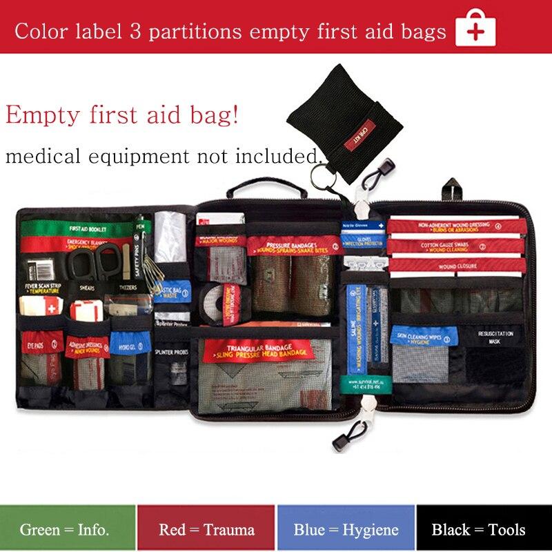 Haute qualité moyen vide ménage multi-couche trousse de premiers soins en plein air sac de voiture sac de premiers soins survie Medine voyage sac de sauvetage - 2