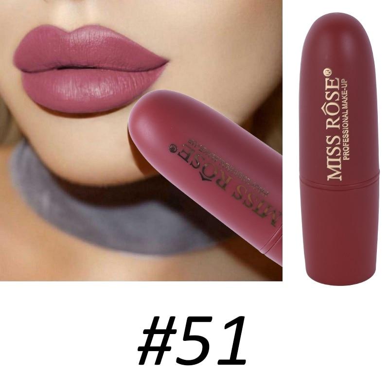 Women Makeup Lips Sexy Matte Lipstick Waterproof Velvet Batom Pigments Moisturizer Lipstick Matte Lips maquiagem New 18 47