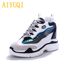 AIYUQI Women Sneakers platform genuine leather 2019 spring new women shoe sneakers shoes,vulcanized shoes casual