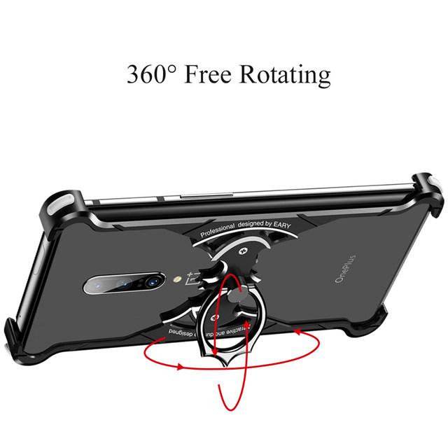 OnePlus 7 Pro 7T Bat Design Metal Bumper Shockproof Back Case Cover