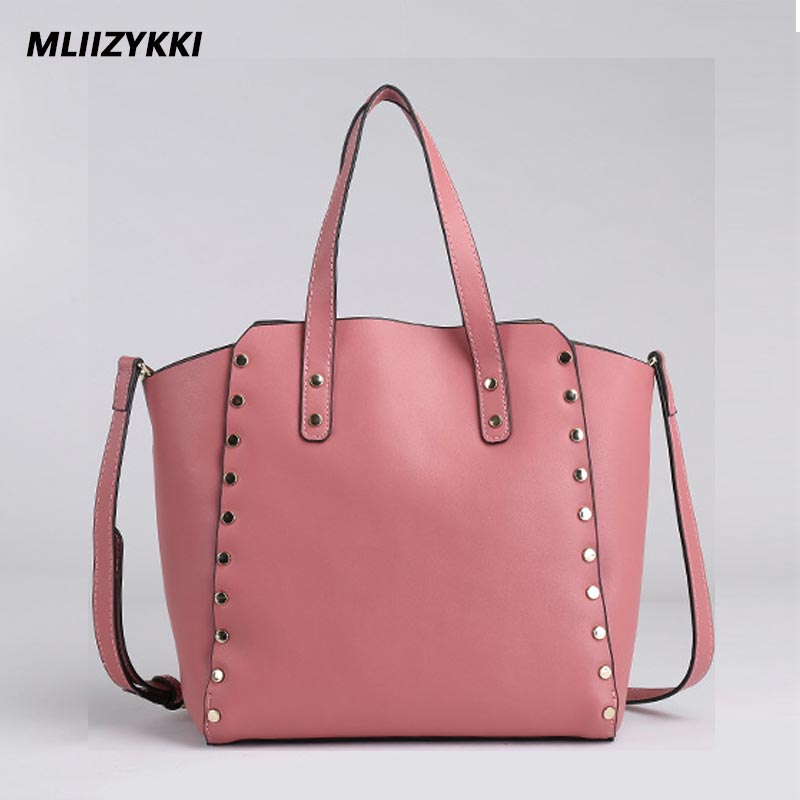 MLIIZYKKI  LUXURY Cowhide Genuine Leather Women Shoulder Bag Brand Designer handbags Rivet Large Capacity  Crossbody bag chispaulo women genuine leather handbags cowhide patent famous brands designer handbags high quality tote bag bolsa tassel c165