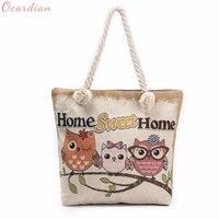 Hot Sale Bolsas Owl Printed Tote Bags Women Shoulder Bag Handbags Shopping Bag Casual Dropship 0628