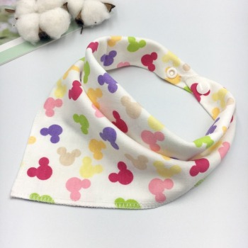 Bandana Bib Burp Cloth Baby Bibs for Boys Girls Animal Print Smock Cotton Baby Scarf Feeding Collar Burp Baby Accessories