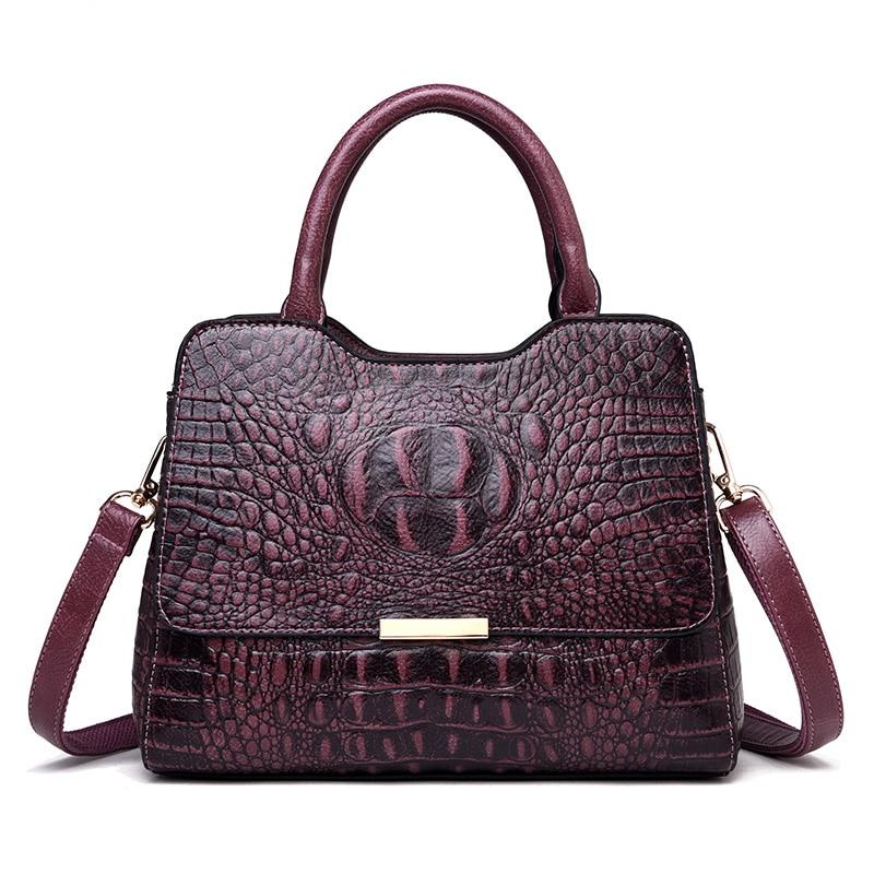 2019 New Crocodile Pattern Luxury Handbags Women Genuine Leather Bags Designer Tote Bags for Women Crossbody Shoulder Bag2019 New Crocodile Pattern Luxury Handbags Women Genuine Leather Bags Designer Tote Bags for Women Crossbody Shoulder Bag