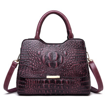2019 New Crocodile Pattern Luxury Handbags Women Genuine Leather Bags Designer Tote Bags for Women Crossbody Shoulder Bag недорого