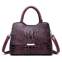 2019 New Crocodile Pattern Luxury Handbags Women Genuine Leather Bags Designer Tote Bags for Women Crossbody Shoulder Bag