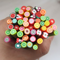 Colorful 3d Fimo Rods Nail Art Sticks Polymer Clay Fruit Canes New Arrival Cute Fashion Nail Decorations DIY F003