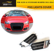 Styling ABS Chrome Front Fog lamp Mask Car Styling Fog Lights Cover for Audi A1 Standard Bumper 2011-2014