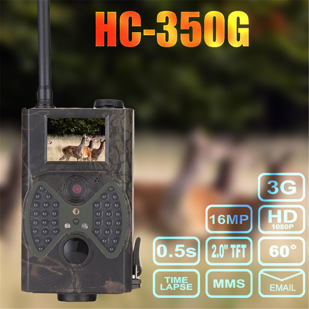 цена на HC350G Hunting Trail Camera 2G HD 16MP 1080P Video MMS GMS Night Vision Scouting Infrared Trap Wildlife Game Hunter Cam