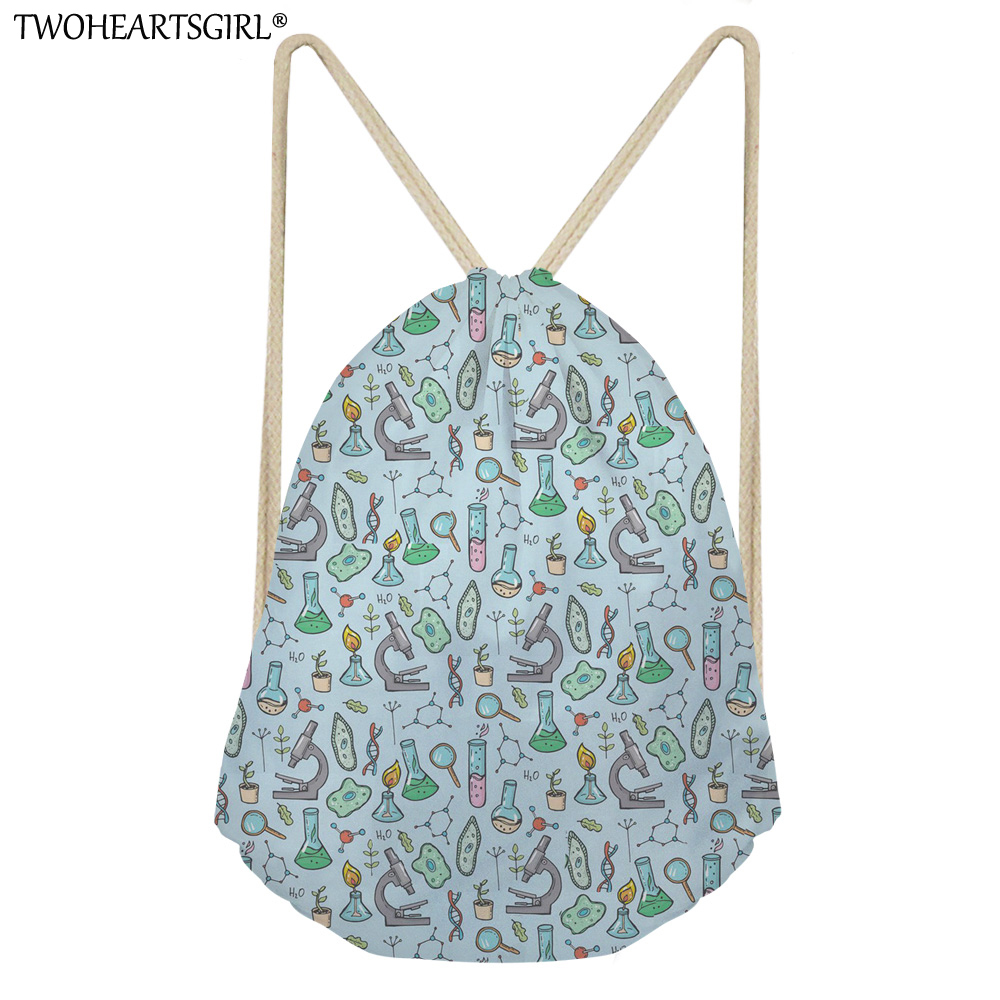 TWOHEARTSGIRL Math Formula Printing Drawstring Bag Women Backpack Children School Bags For Teenager Girls Cinch Mochila Escolar