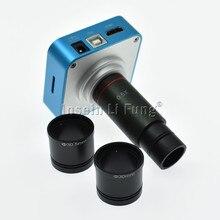 Microscope numérique HD 20mp 1080P 60fps, caméra USB HDMI, carte TF, enregistreur vidéo + lentille oculaire 0,5 x à monture C + adaptateur 30mm 30.5mm