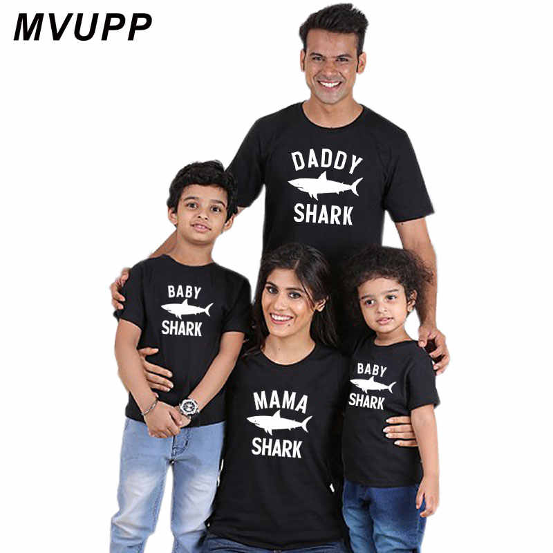 f8009905 ... daddy papa mama baby shark vogue super matching for family and me  outfits clothe dad clothing ...
