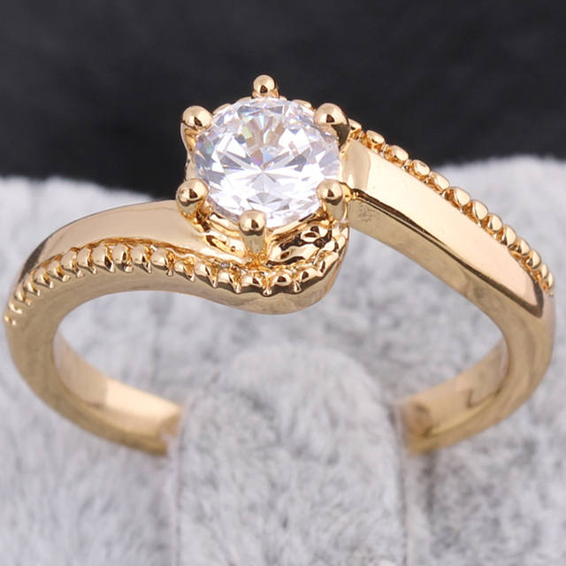 2015 New Fashion Classic S Design Wedding Ring Studded CZ Rings