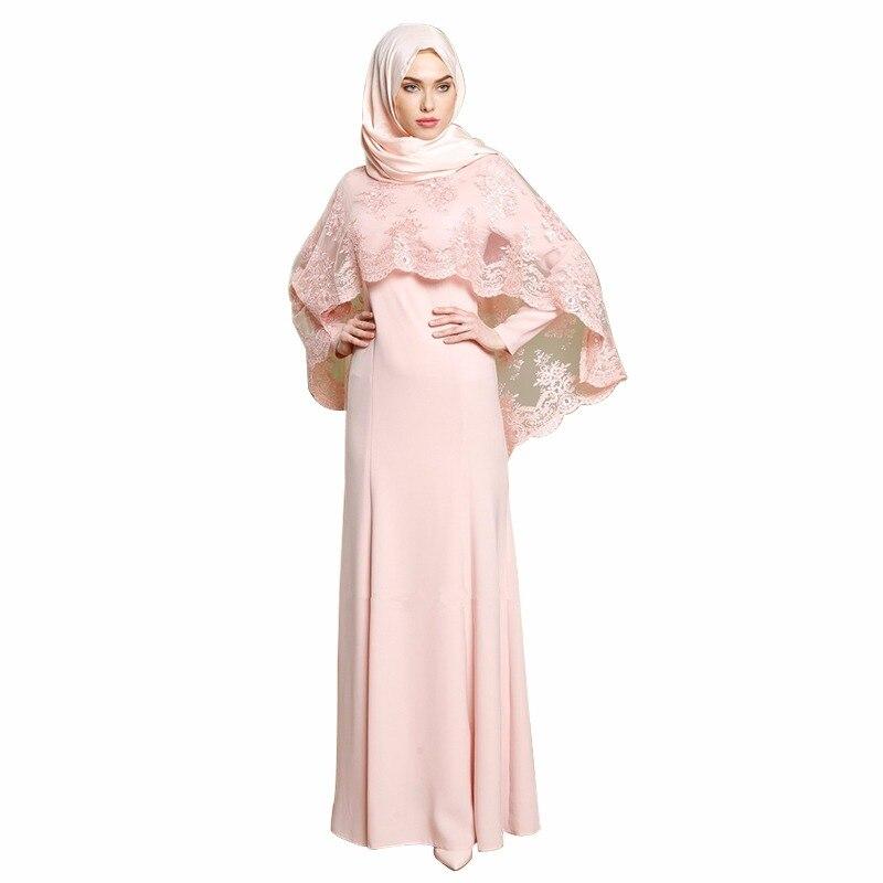 8d117d2c6e3 Zakiyyah Robe Maxi musulmane Abaya broderie dentelle longue Robe robes  moyen-orient robes Kimono Jubah
