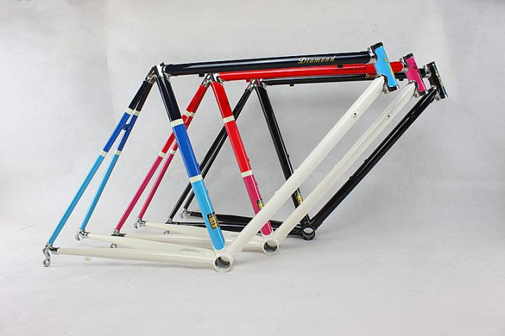 Reynolds 525chrome-molybdenum Steel Frame 650C Road Bike Racing Frame Within The Frame Alignment Design Vintage Bicycle Frame