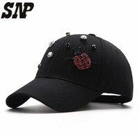 Cotton Baseball Cap Women Casual Snapback Hat Hand Set Beads Baseball Sports Outdoor Sun Hat Casquette