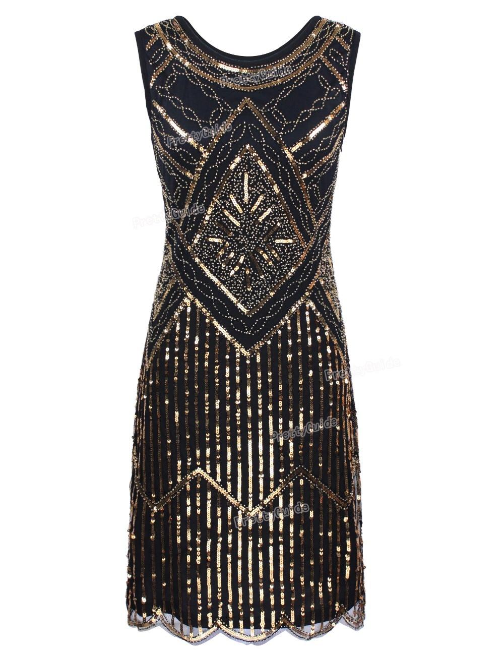 PrettyGuide Frauen Vintage 1920 s Great Gatsby Pailletten Perlen ...