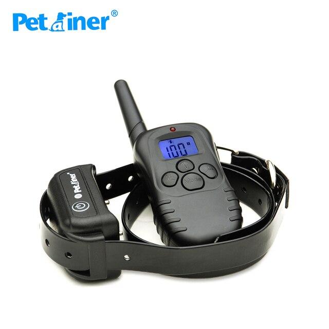 Petrainer PET998DB 1 กันน้ำชาร์จสุนัขอิเล็กทรอนิกส์การฝึกอบรม COLLAR สร้อยคอสำหรับสุนัข