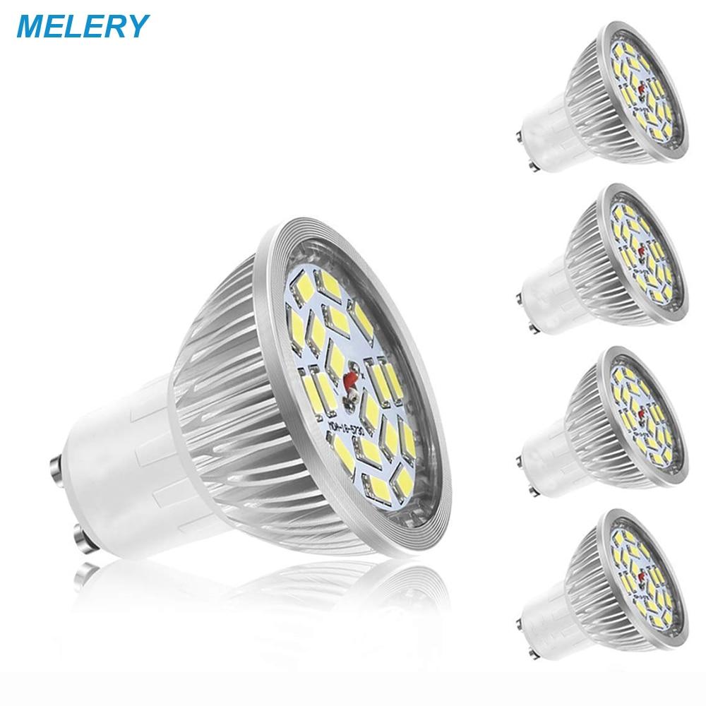 GU10 светодиодный свет лампы 4 W SMD светодиодный точечные светильники холодный белый 6000 K супер яркий (60 W эквивалент), 140 угол луча AC85-265V-4PACK