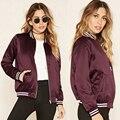 Women's Casual Lady Jacket Zip Motors Biker Short Baseball Pilot Bomber Outwear Coat