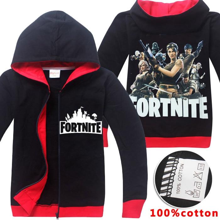 Одежда для мальчиков Fortnite дети 2018 Детская одежда с длинными рукавами для мальчиков футболка комплекты детская одежда для девочек толстовки...