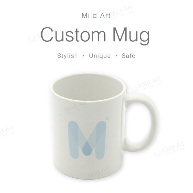 e39b49b61d8 Custom Ceramic Coffee Mugs Set Blank Water Tea Cups Beer Creative Photo  Print White Sublimation Personalized Kitchen Accessories