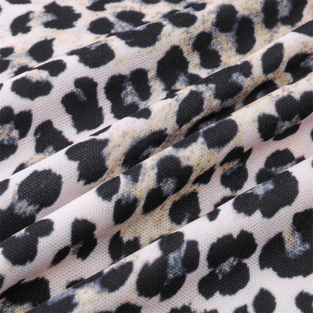 Womens Long Sleeve Leopard Print Turtleneck Lightweight Pullover Top Blouse