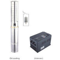 Free Shipping DC540V/AC380V Big Flow Solar Water Pump Used In Water Supply 4SPSC25/168 D380/7500
