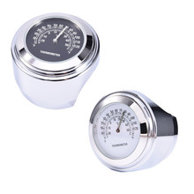 Practical Motorcycle Clock Thermometer Instruments Moto Handlebar Mount Clock for Harley Davidson motor Motorbike Accessories