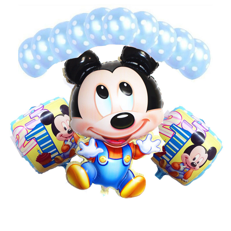 13pcs/lot Minnie Theme Party Suppliers Birthday Party Decoration Kids Mickey Inf
