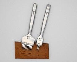 Zhizhongzengzao, hierro para picar, herramientas artesanales de cuero, reemplazables tanto positivo como negativo, hierro para picar estilo francés/europeo