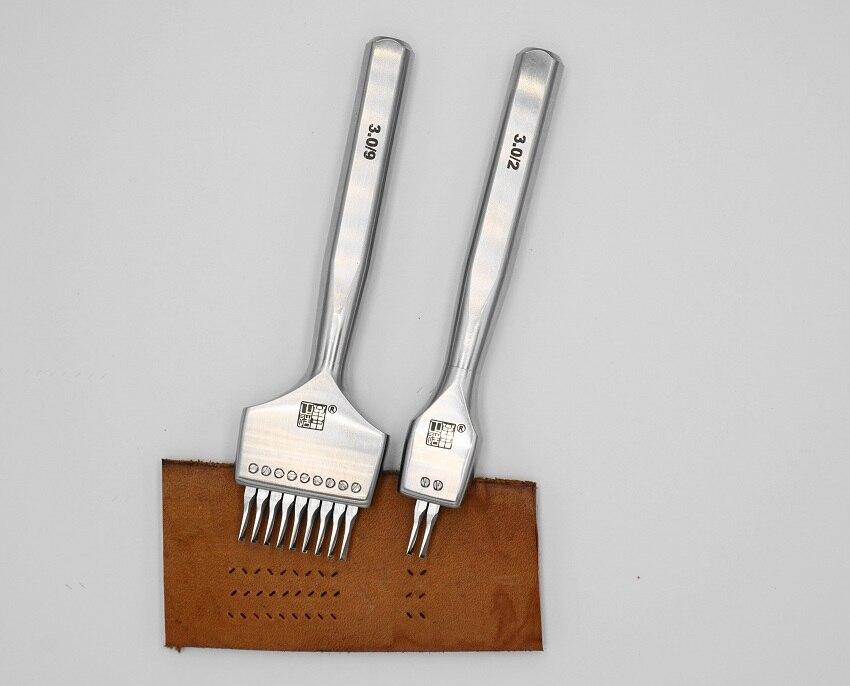 Zhizhongzhengzao,pricking Iron, Leather Craft Tools,replaceable Both Positive And Negative,French/European Style Pricking Iron