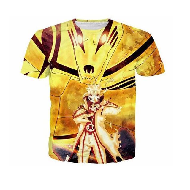 Naruto 3D Print Casual Fashion Short Sleeves O-neck Men's T-shirt