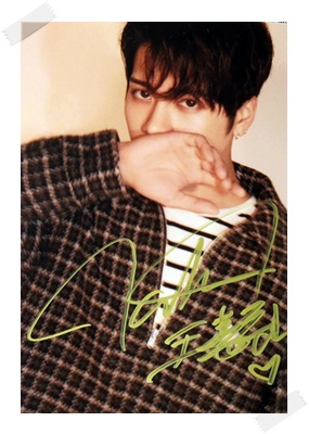 signed GOT7 Jackson autographed photo 6 inches free shipping  10201702 signed tfboys jackson autographed photo 6 inches freeshipping 6 versions 082017 b