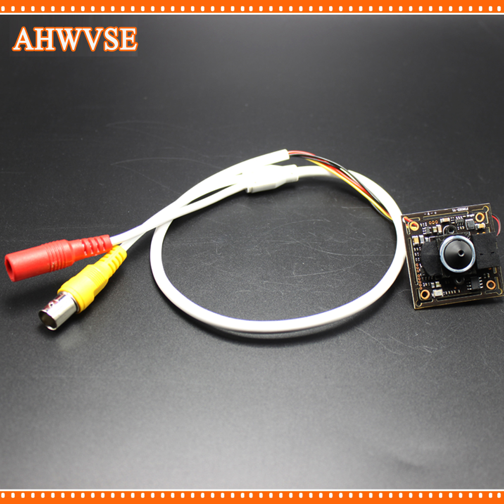 AHWVSE 4pcs/lot HD 1280*720P Indoor CCTV Mini AHD Camera module with BNC Cable and  3.7 mm lens