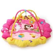 Медведь Кролик Утка музыка мягкий детский игровой коврик Одеяло Твин фитнес-рамка Развивающие детские игрушки ползать детский спортивный