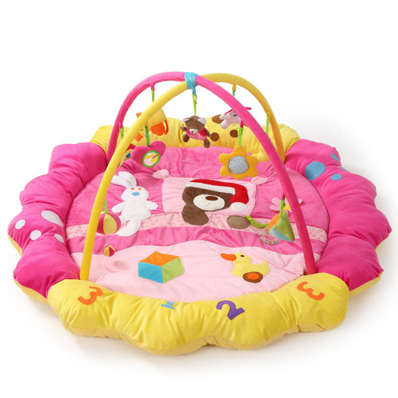 Bear Bunny Duck Music Soft baby Play mat Blanket Pad twin Fitness Frame Educational Baby Toys Climb Crawling Baby Gym цена 2017