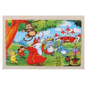 Image 5 - Puzzle en bois pour enfants 22.5x15 cm, grands puzzles danimaux de dessins animés, jouets éducatifs pour filles et garçons, haute qualité