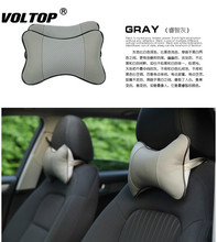 Car Seat Pillow Head Leather Neck Four Seasons Homebreathable Bone